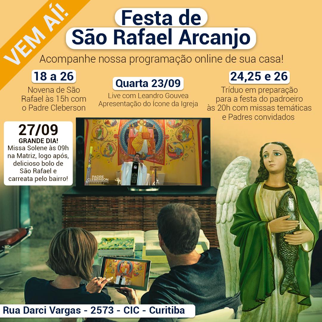 Vem a grande Festa de São Rafael Arcanjo!
