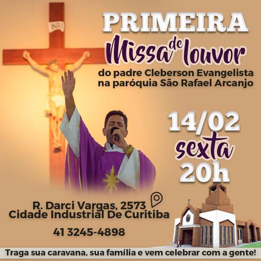 Primeira missa de louvor na paróquia São Rafael Arcanjo