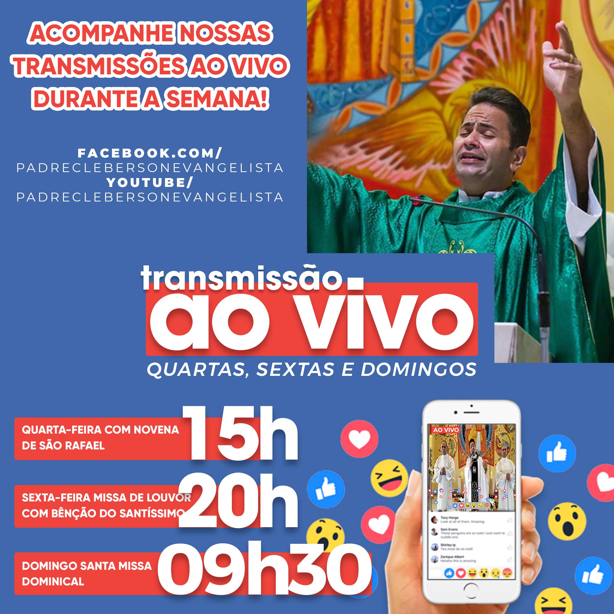 ATENÇÃO! Novo horário de transmissão da Missa Dominical