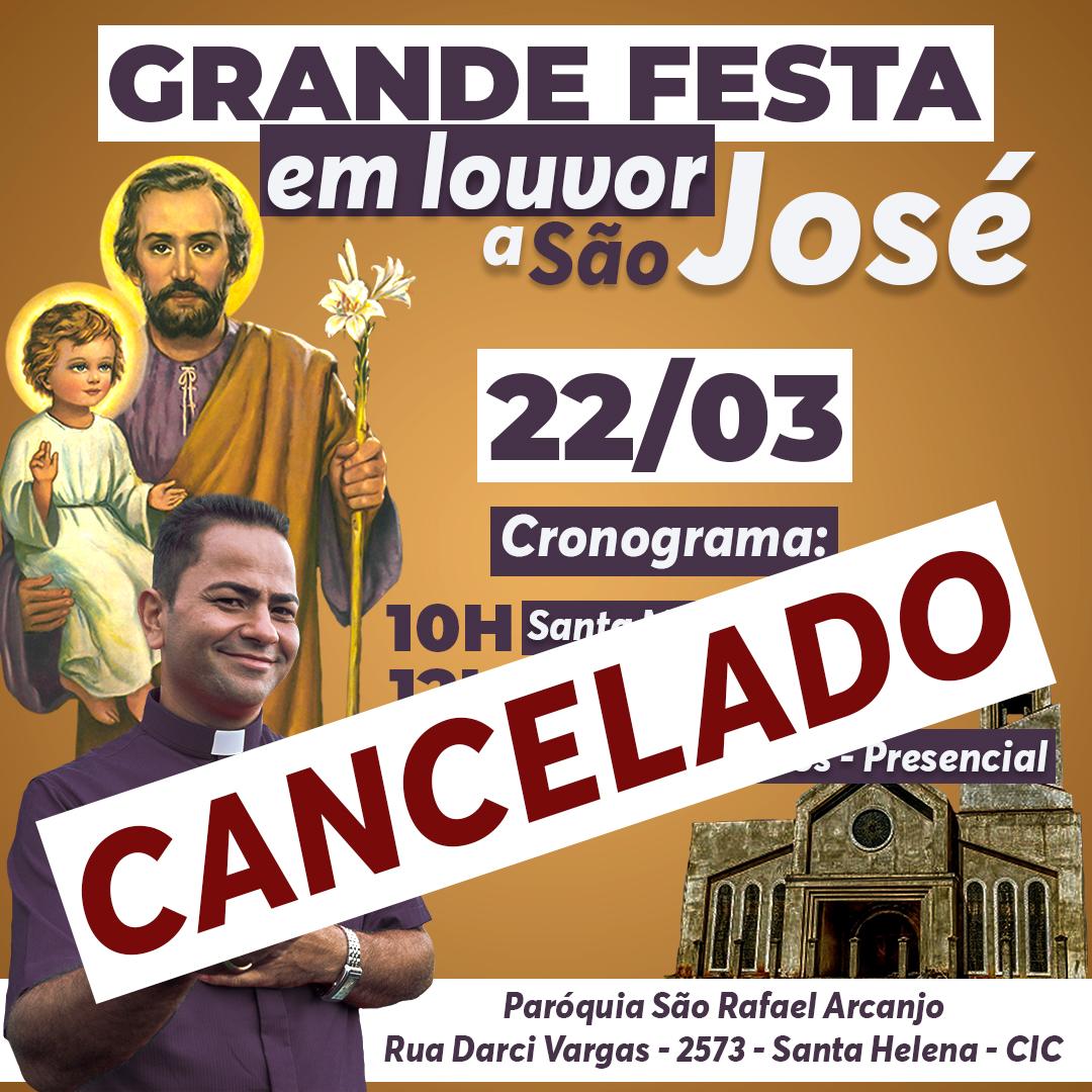 COMUNICADO - Festa de São José - CANCELADA