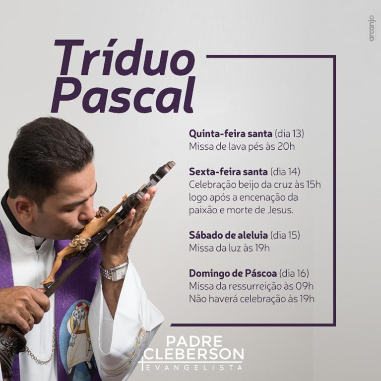 Horários do Tríduo Pascal na Paróquia Anjo da Guarda