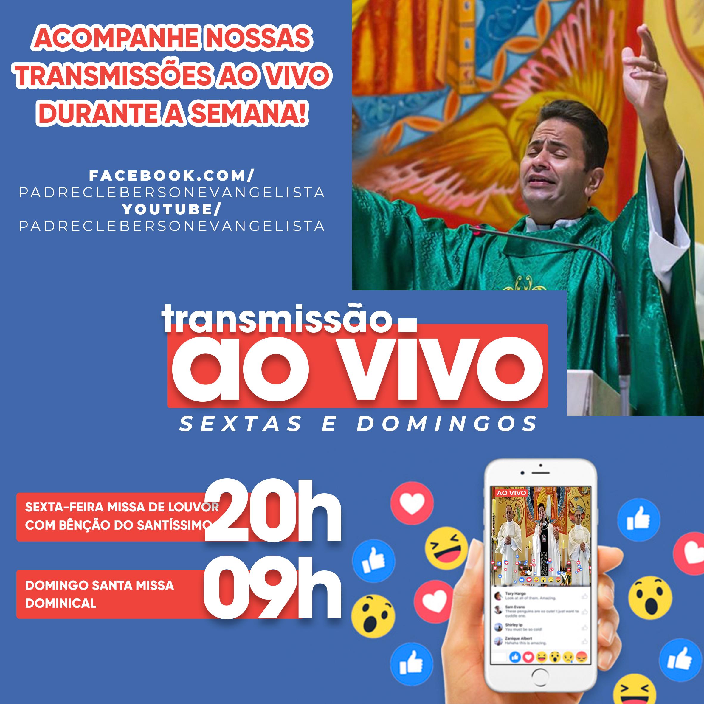 Transmissões das Missas na paróquia São Rafael Arcanjo