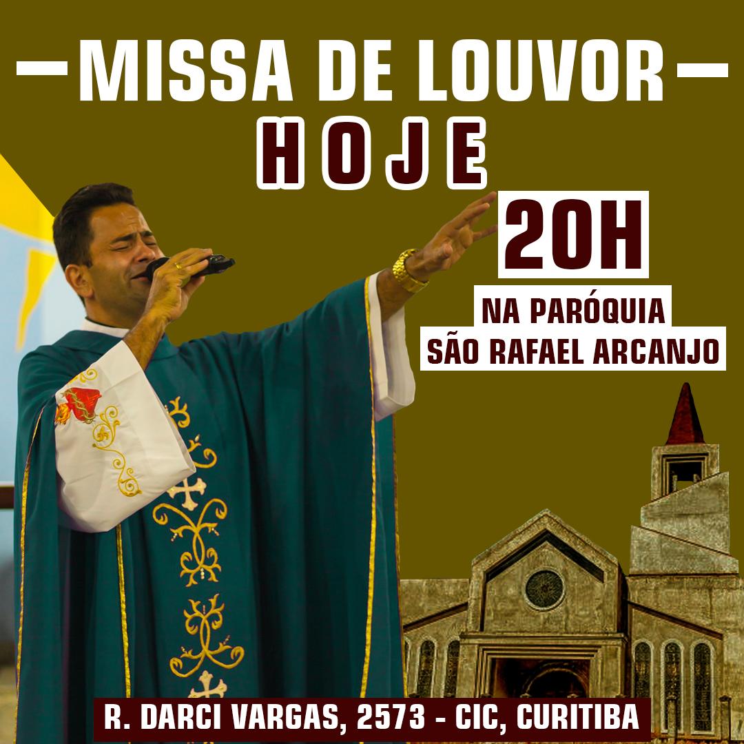 HOJE! Missa de Louvor na paróquia São Rafael Arcanjo com transmissão ao vivo!