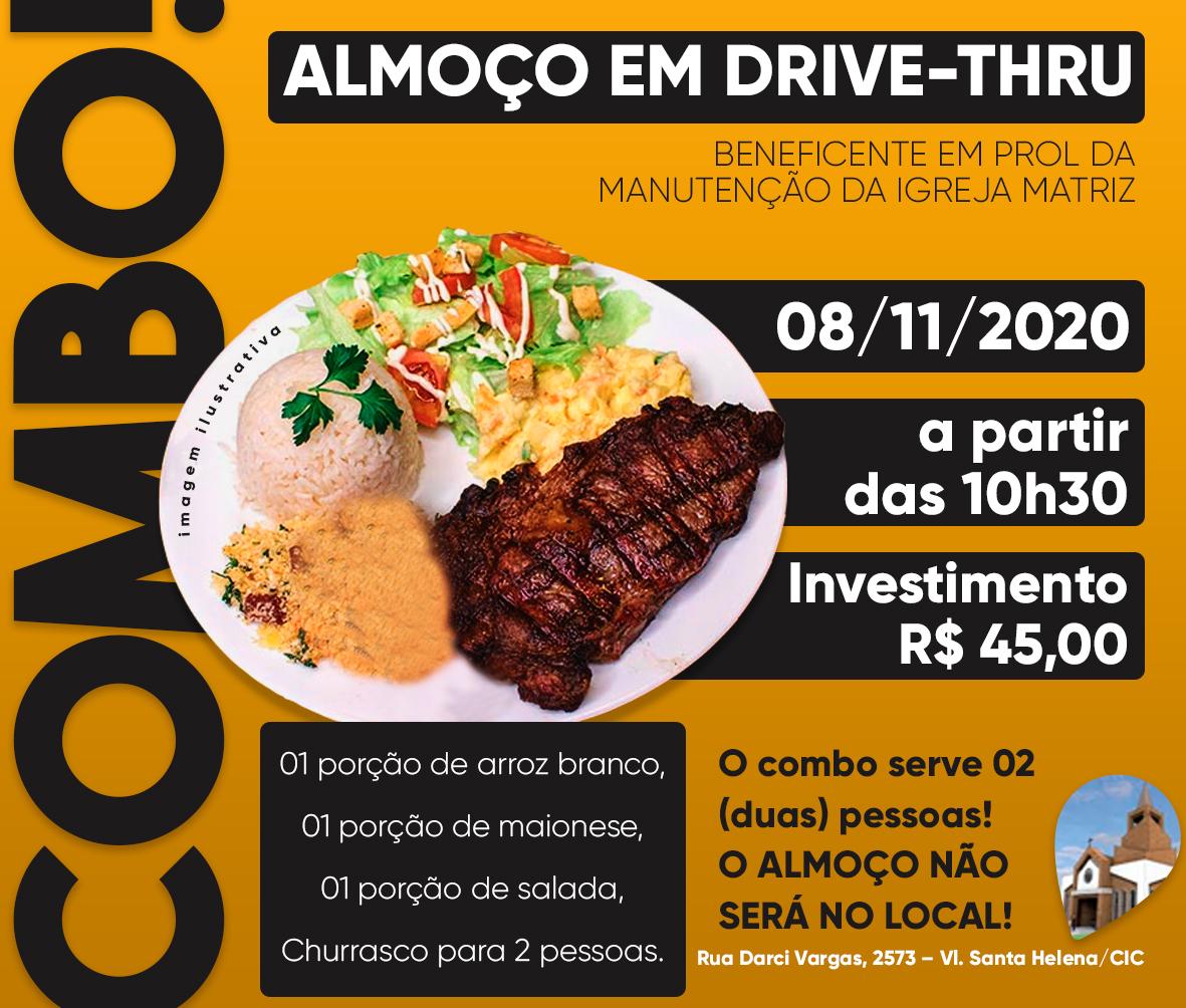 Neste Domingo almoço em Drive-thru! Reserve já o seu!!!