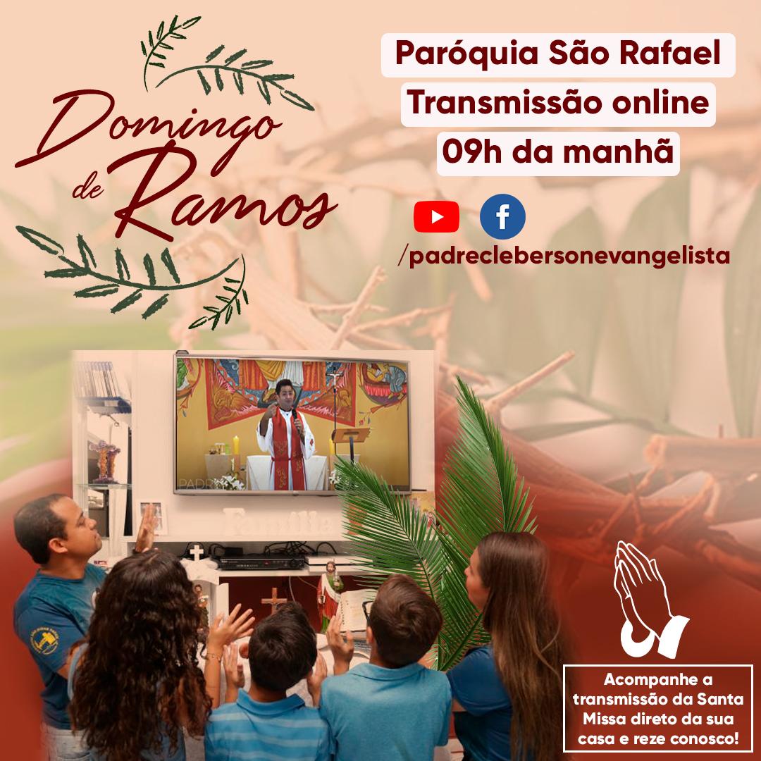 Missa de Domingo de Ramos na Paróquia São Rafael