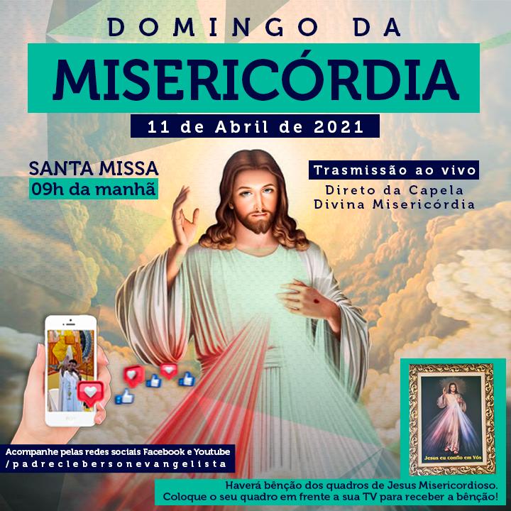Acompanhe a transmissão ao vivo no dia da Misericórdia!