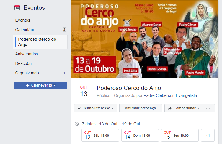 Poderoso Cerco do Anjo - Evento no Facebook