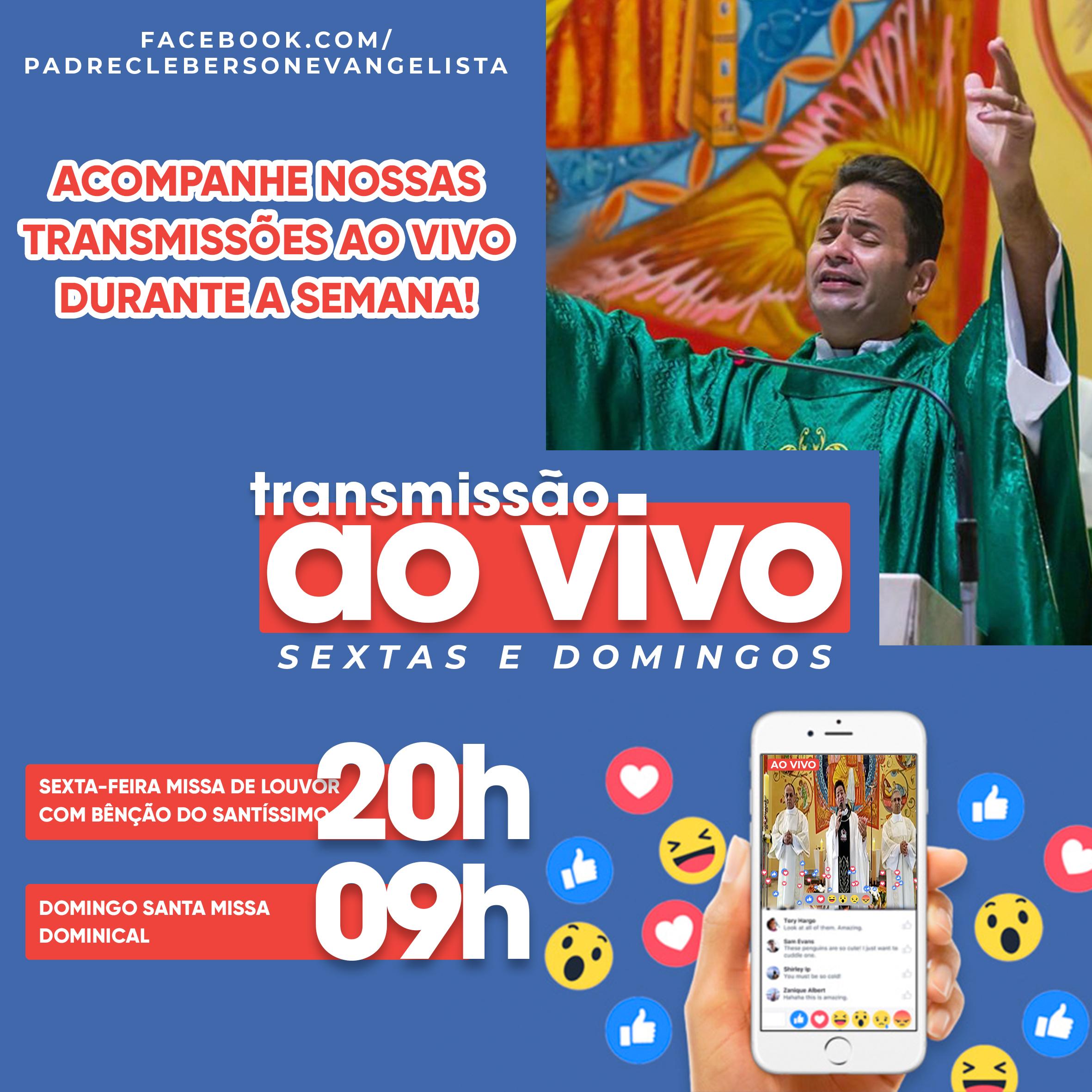 Horários de transmissões ao vivo na Paróquia São Rafael Arcanjo