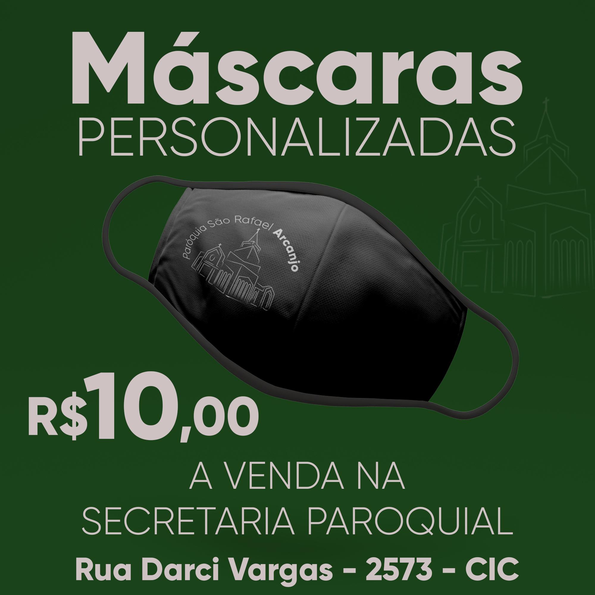 Temos máscaras personalizadas a venda!