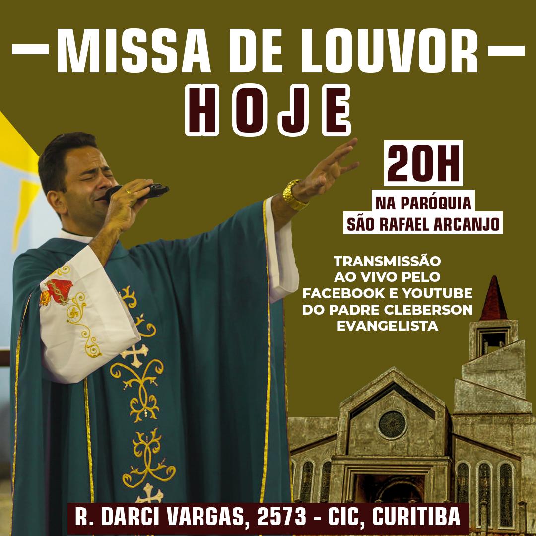 Hoje tem missa de louvor e campanha de Nossa Senhora da Luz!