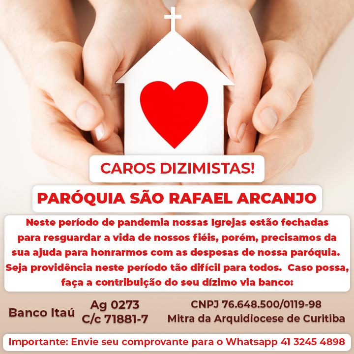 Dizimista fiel, nossa Igreja precisa de você!