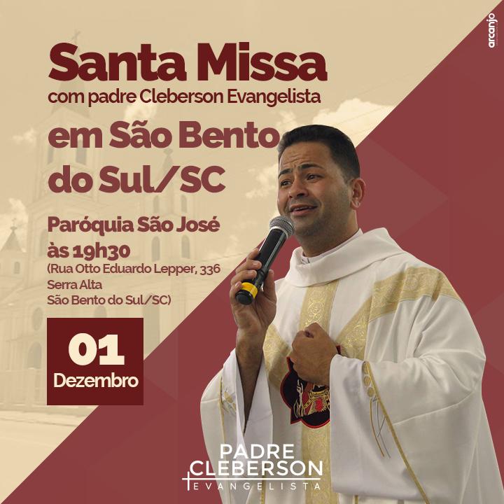 Padre Cleberson em São Bento - SC