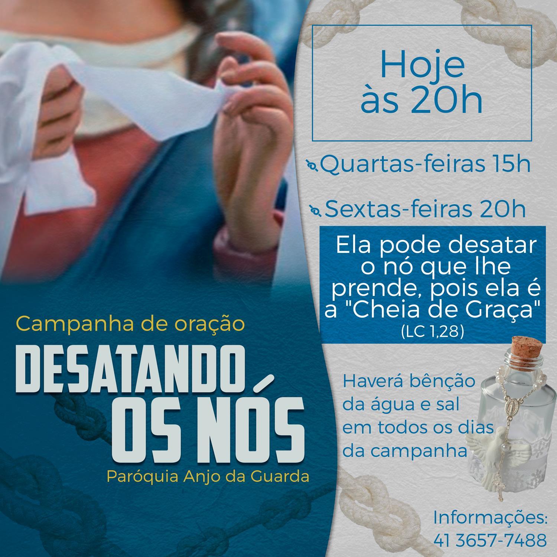 Hoje tem o sétimo dia campanha de oração! Quinto dia da campanha de Nossa Senhora Desatadora dos Nós