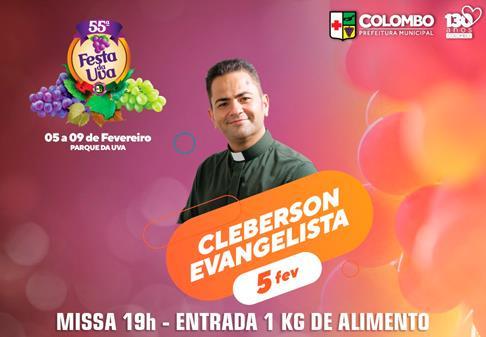 Padre Cleberson na Festa da Uva em Colombo