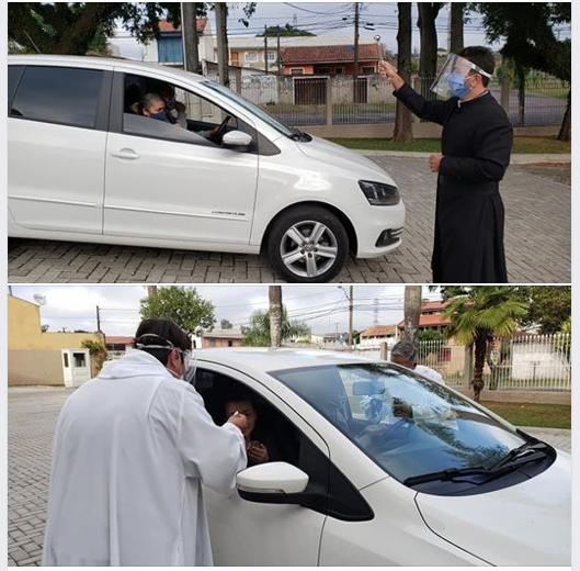 Distribuição da Eucaristia na paróquia São Rafael Arcanjo