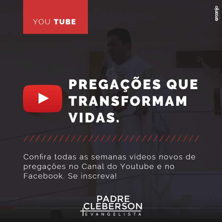 Nova pregação do padre Cleberson no Youtube