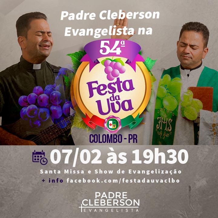 Padre Cleberson Evangelista na Festa da Uva em Colombo - PR