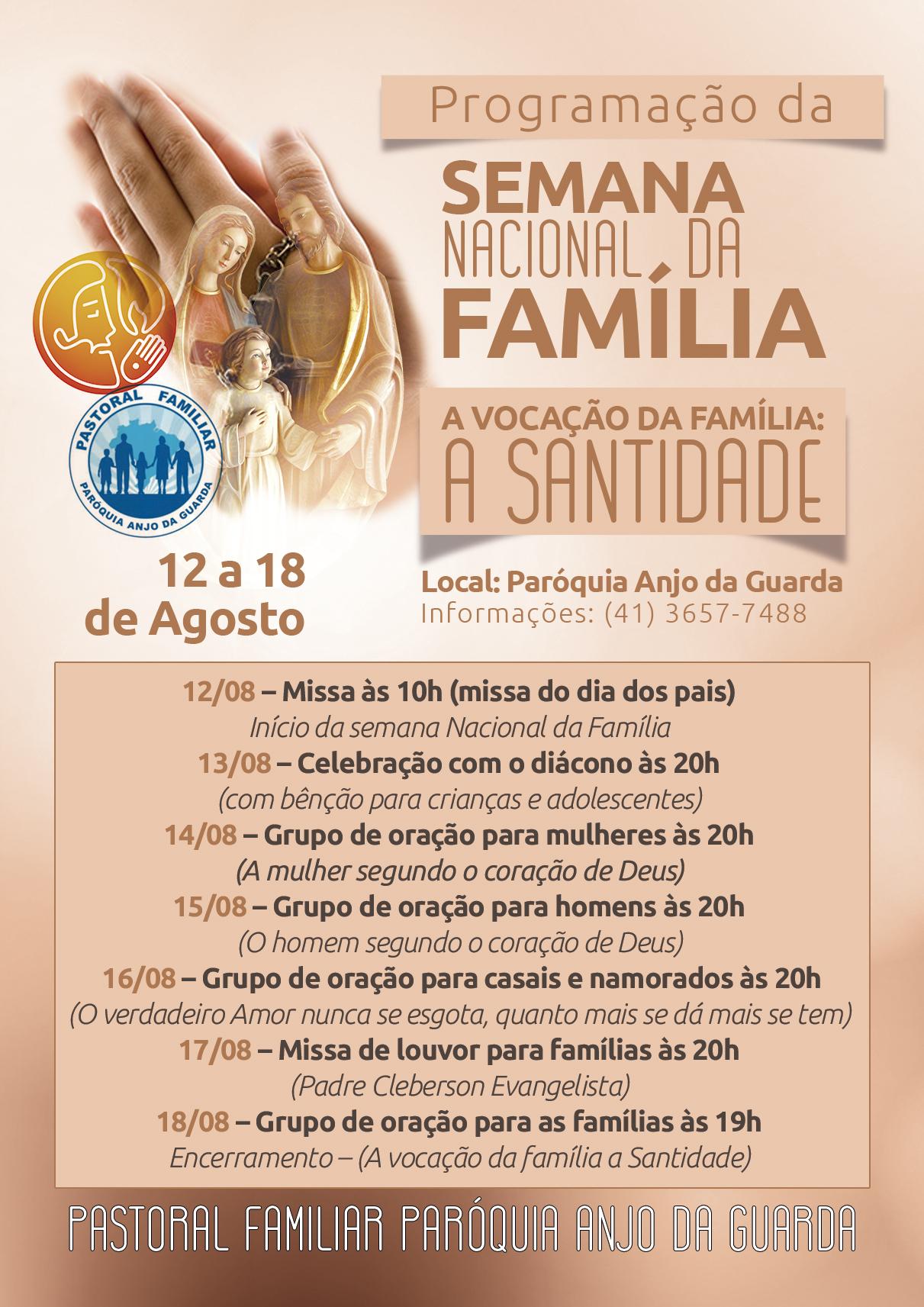 Semana nacional da Família na paróquia Anjo da Guarda