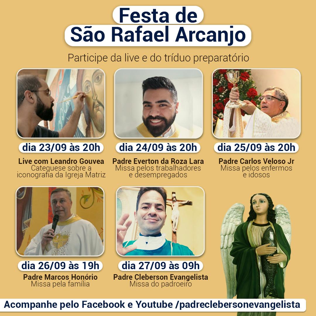 Confira a programação para a festa de São Rafael Arcanjo