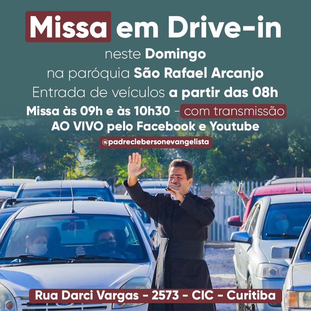 Missa em Drive-in e Campal - Todos os Domingos