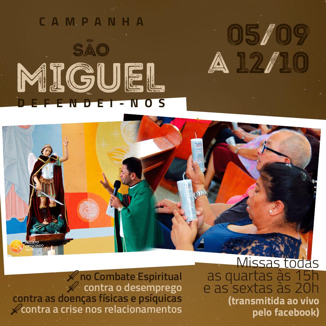 Quarto dia da Campanha de São Miguel Arcanjo